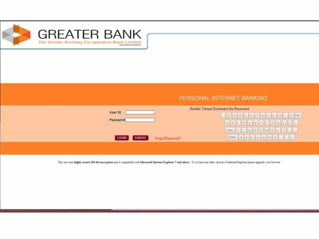 Greater Bank Net Banking