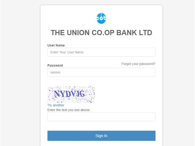 Union Cooperative Bank Online Banking