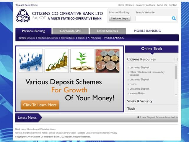Citizens Co-operative Bank Online Banking
